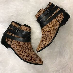 Like New Yosi Samra Cheetah Booties Sz 7